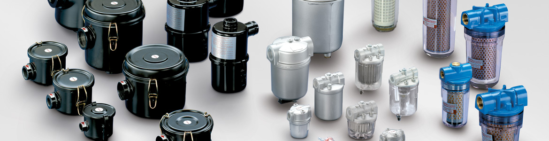 Filtri per vuoto in alluminio con vaschetta trasparente - Serie FAT