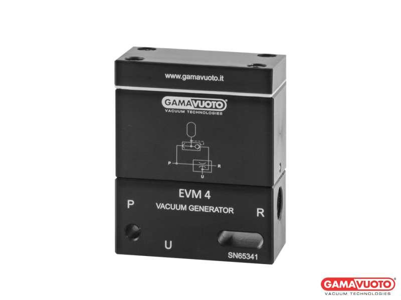 Generatori di vuoto monostadio mod. EVM4 con camera di espulsione