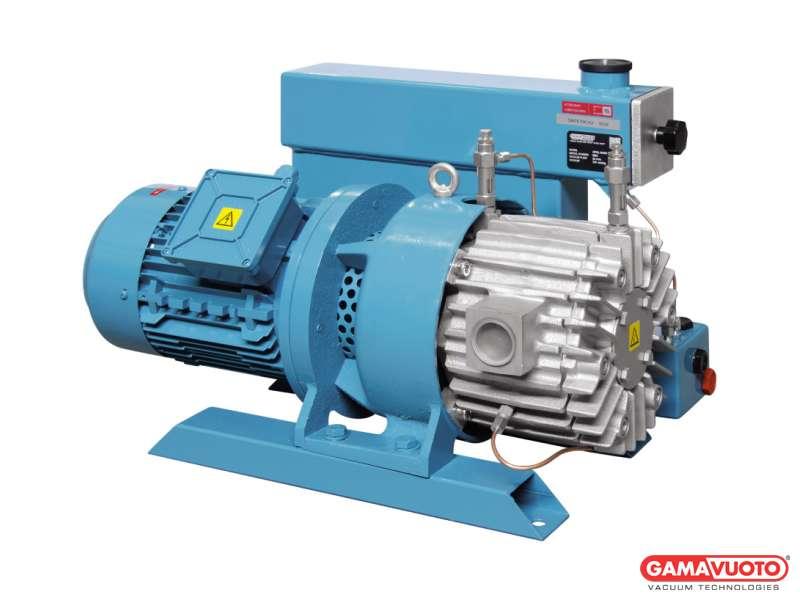 Pompe per vuoto con lubrificazione e cartuccia disoleatrice serie G - 40-75 mc/h