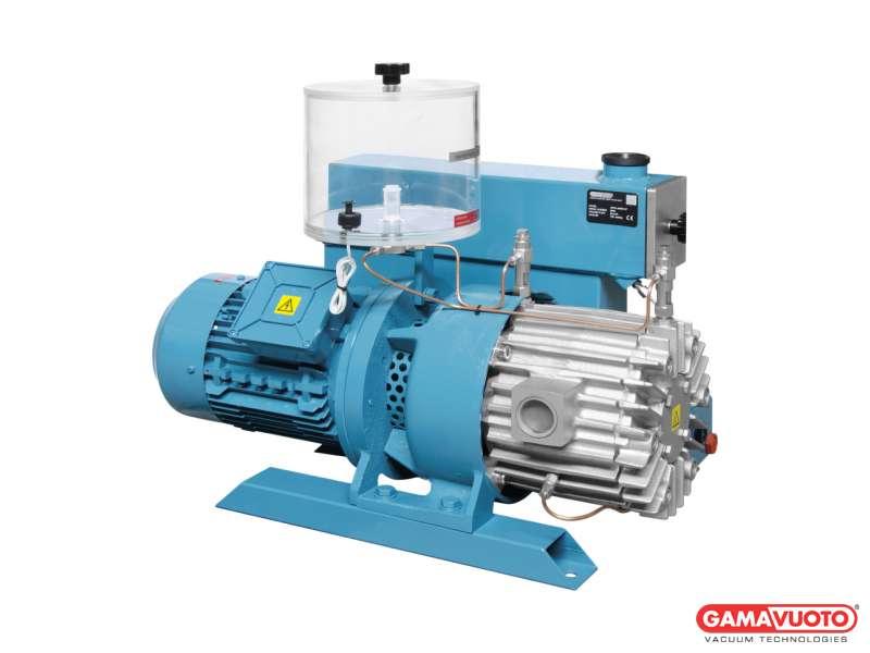 Pompe per vuoto con lubrificazione a perdere e cartuccia disoleatrice serie G - 90-105 mc/h